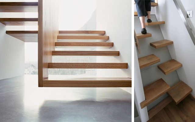 17 mejores ideas sobre escaleras voladas en pinterest - Escaleras voladas de madera ...