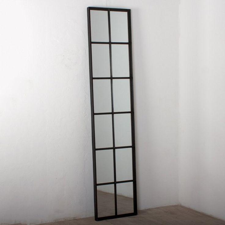 Iron Tall 12 Pane Window Floor Mirror   www.hayneedle.com