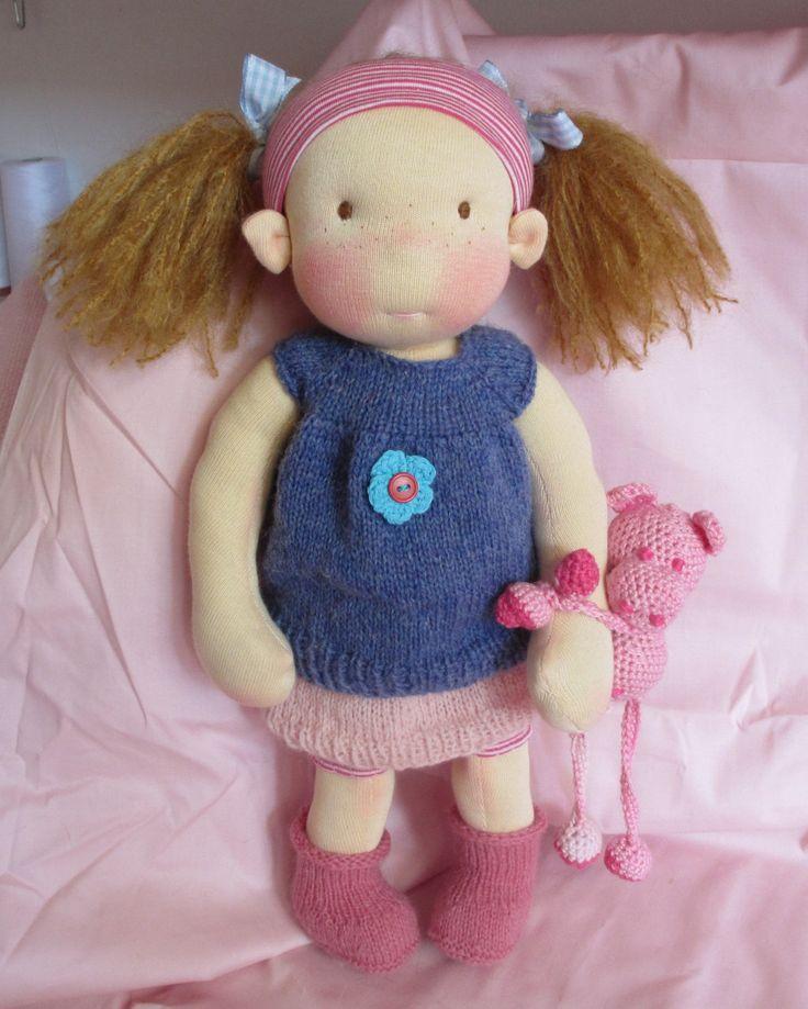 Waldorf inspired doll, Kyla, 14 inch door Poppenina op Etsy