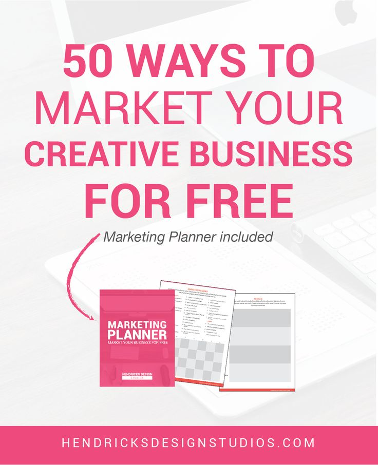 Do not be afraid to market your business. Most startups believe marketing is not affordable. Here are 50 Ways to Market Your Creative Business For Free. Click through to download the free marketing planner.