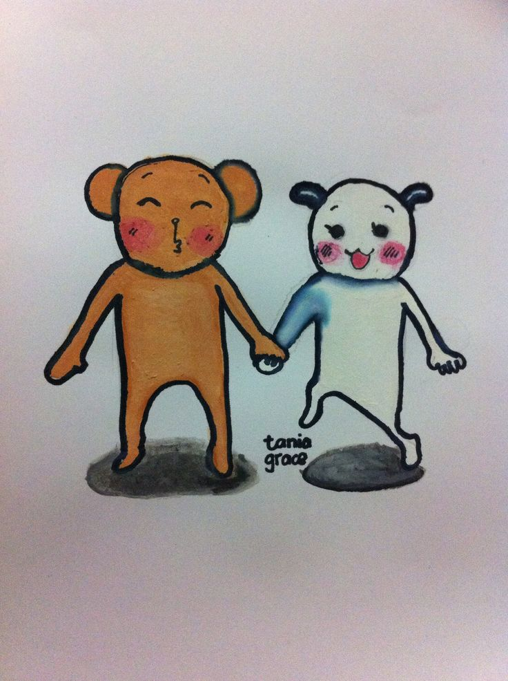 I know it's not perfect. This is my 1st time I draw with paint cake water color by myself #drawing #doodle This is for @donychristian  I ❤️ U to the moon an back  These creature'source is Ju and Ja from jubescomicblog.com