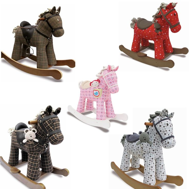 A Little Bird Told me beautiful rocking horses all available at Natural Baby Shower.