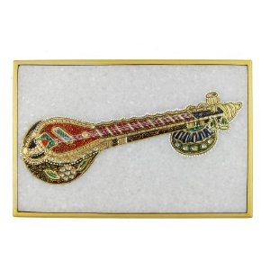 India Arts Embossed Miniature Painting of Indian Music Instruments on Marble Plate (Kitchen)  http://documentaries.me.uk/other.php?p=B0069LXT2A  B0069LXT2A