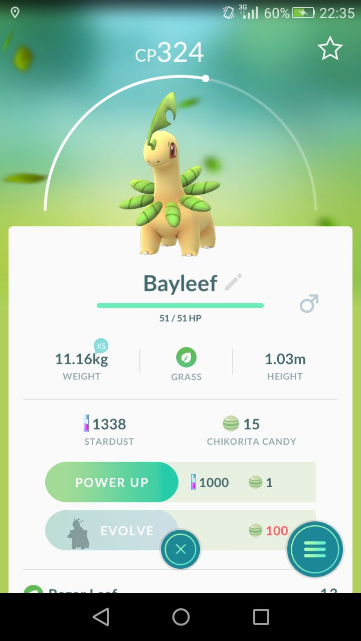 [Screenshot] First grass type pokemon I've seen all day. Anyone else get any decent catches so far since the event started?