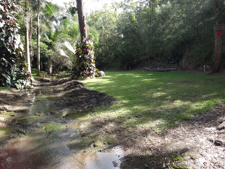 Our creek crossing and bottom camping area.