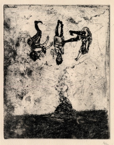 Etching by Cat Roissetter, available from ArtDog London