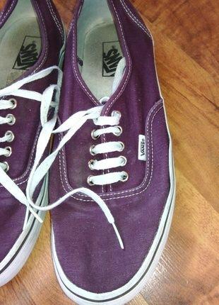 Kup mój przedmiot na #vintedpl http://www.vinted.pl/damskie-obuwie/obuwie-sportowe/10854795-piekne-burgundowe-vansy-idealny-stan-okazja