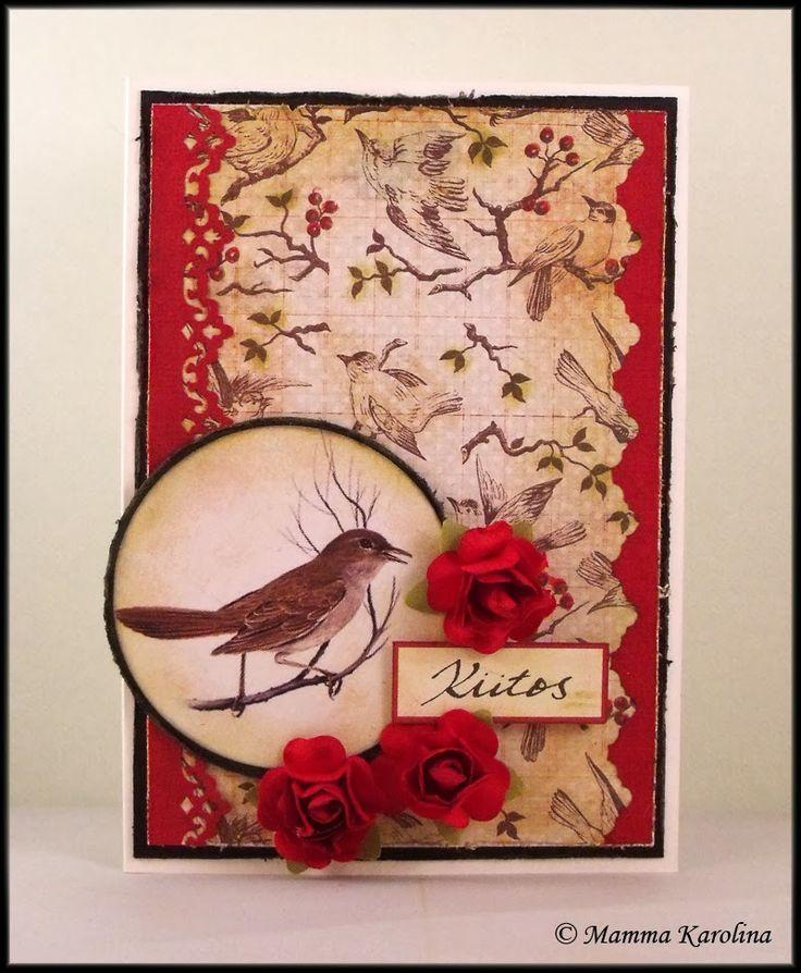Card with a birdy