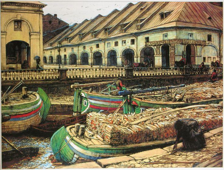Лансере Никольский рынок в Петербурге. 1901