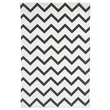 Vloerkleed Bombay zigzag zwart/wit 60x90 cm (klein voor badkamer)