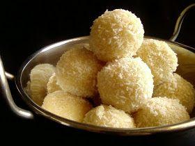 Indian Cuisine: Dessicated Coconut Laddu with Condensed Milk ~ Quick Version