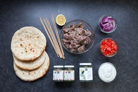 For the perfect Lamb Souvlaki, marinate your lamb in Souvlaki and Lamb Seasoning.