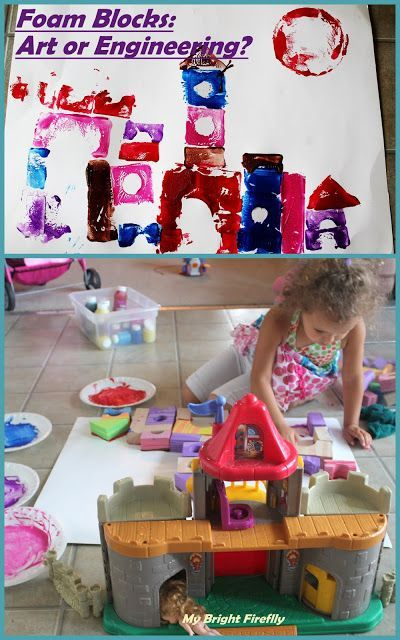 Colorful Creepy Castle: Printing with Blocks Preschool Activity. Castles, Caves, and Honeycombs. Engineering a Creepy Castle.