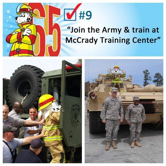 Sparky joined the #Army! #bucketlist #Sparky's65th