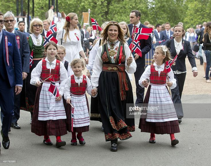 Princess Martha Louise of Norway, with her daughters:Maud Angelica Behn, Emma Tallulah Behn and Leah Isadora Behn attend celebrations for Norway National day in Southwark Park on May 17, 2014 in London, United Kingdom.