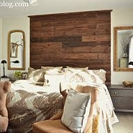See how we made this rustic DIY headboard for our master bedroom. The… :: Hometalk