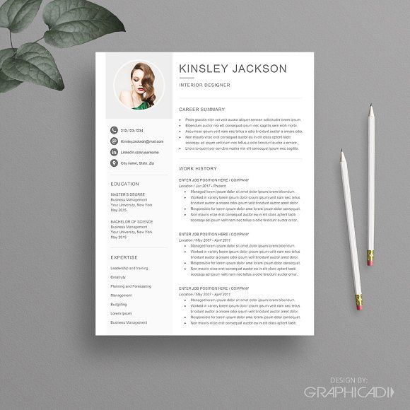 Resume Template for Word by Graphicadi on @creativemarket
