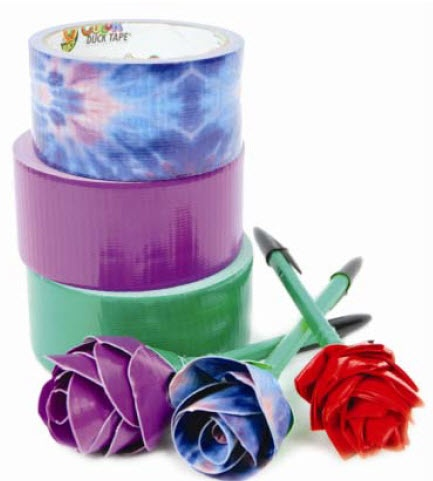 A.C. Moore Duck Tape® Rose Pens #ducktape #craft