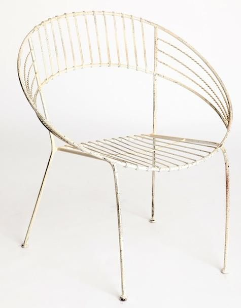 Industrial outdoor chair