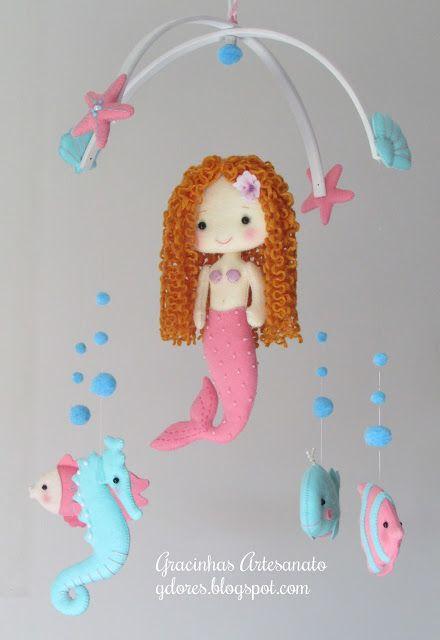 "Nursery mobile ""under the sea friends"""