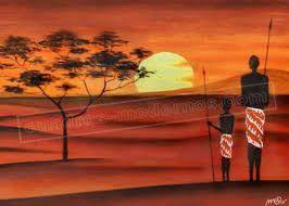 Image result for cuadros y laminalar africanas