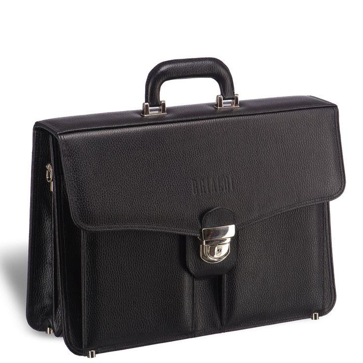 Классический каркасный портфель BRIALDI Brisbane (Брисбен) releif black     Это отличный портфель для делового мужчины, придерживающегося классического стиля. Весь дизайн модели подчинен тому, чтобы владельцу было с ним удобно. Плотная ручка благодаря приданной ей форме сидит в ладони, как влитая. На лицевой панели два вместительных формовых кармана, на задней панели карман на молнии и карман закрывающийся магнитом (бумаги формата А4 в папке легко помещаются). Два вместительных отделения…