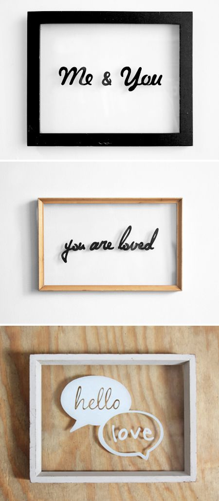 Hand drawn typography on glass frames | the jealous curator