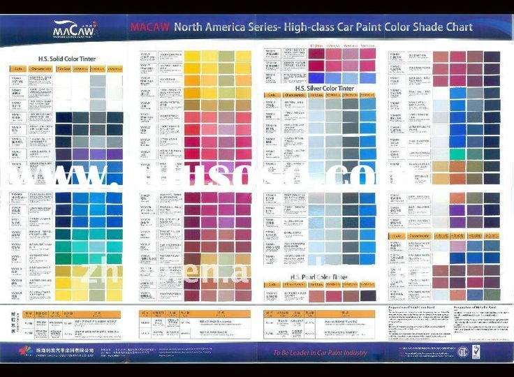 108 best Auto paint colors Codes images on Pinterest Chevy - sample general color chart