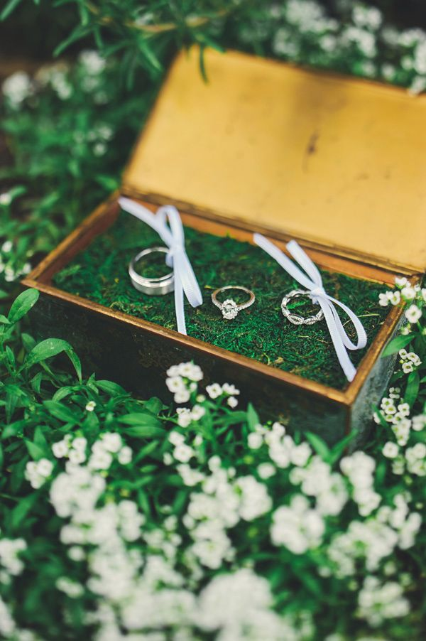 such a sweet ring presentation http://www.weddingchicks.com/2013/11/26/gold-and-gray-wedding/