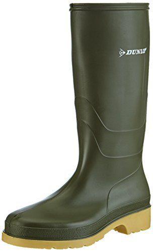 Dunlop RAPIDO PVC LAARS GROEN, Unisex Adults' Long Shaft Boots Womens Dunlop Green Festival Wellies Wellington Rain Snow Boots Size UK 3 4 5 6Dunlop  BOOTS, footwear, high heels, SHOES, Slippers, wellington boots