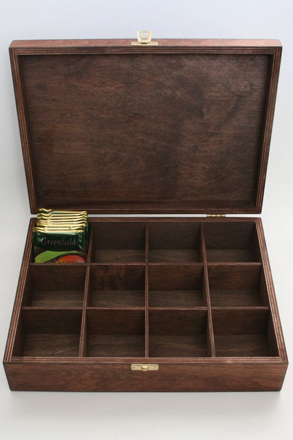 Wooden Tea / Keepsake / Jewelry Box 12 Compartments by WoodPower                                                                                                                                                                                 More
