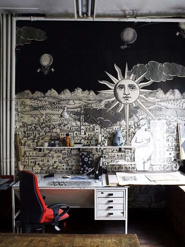 Best Fornasetti Images On Pinterest Drawings Graphics And - Piero fornasetti wallpaper designs