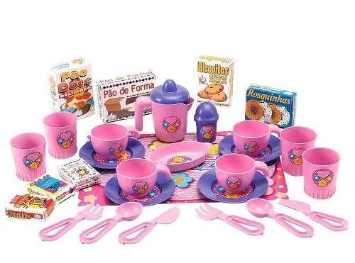 kit infantil hora do chá miniaturas completo