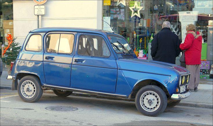 Renault-4 in Banyoles in Spanje...