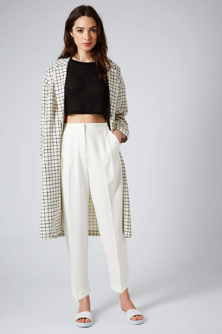 Cropped Peg Leg Trousers – Edited – New In – Topsh…