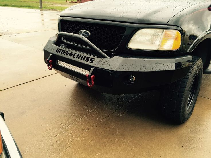 Iron Cross Automotive 22 415 97 Push Bar Front Bumper Ford F 150 97 03 Ford F150 Ford Trucks Ford