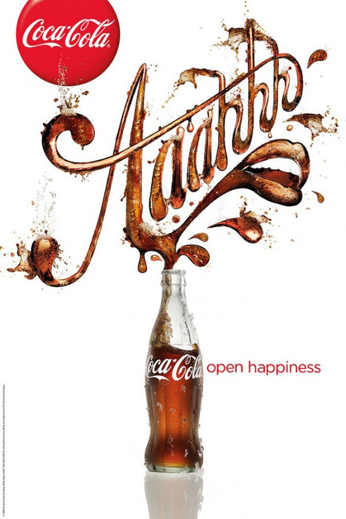 Coca-Cola: Open happiness Print Advert.