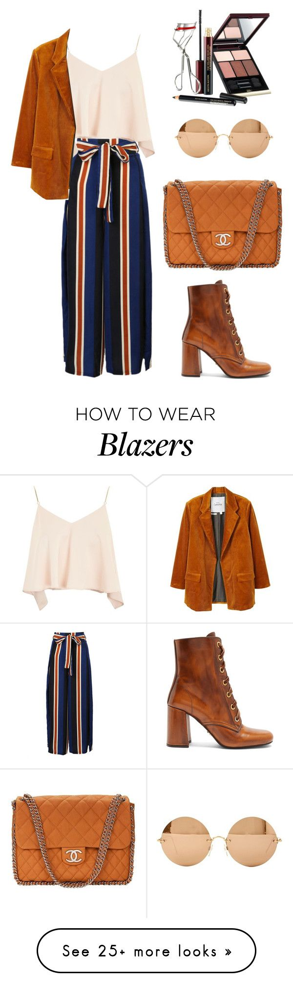 """""""Senza titolo #1837"""" by merypr on Polyvore featuring WithChic, Topshop, MANGO, Prada, Chanel, Victoria Beckham and Kevyn Aucoin"""