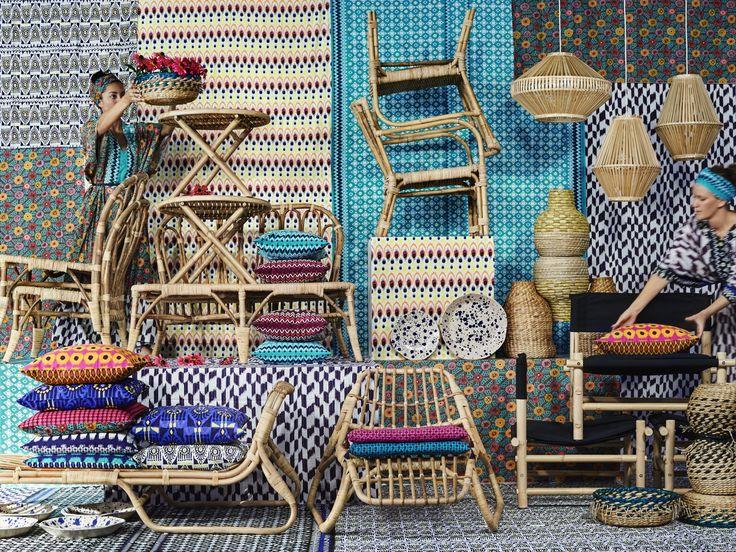 JASSA fauteuil | IKEA IKEAnl IKEAnederland nieuw Piet Hein Eek limited collectie rotan bamboe accessoires decoratie woonkamer ambacht handgemaakt kussens lamp