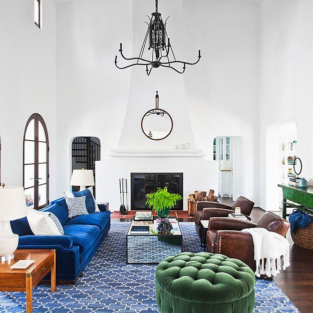 We love an eclectic interior (especially this one by Orlando Soria of Homepolish), but when it comes to cleaning, mixed materials can mean a chemical clash of competing scents. #wecanhelpwiththat From leather to velvet, wood to reflective surfaces and wool carpeting, we've got you covered.