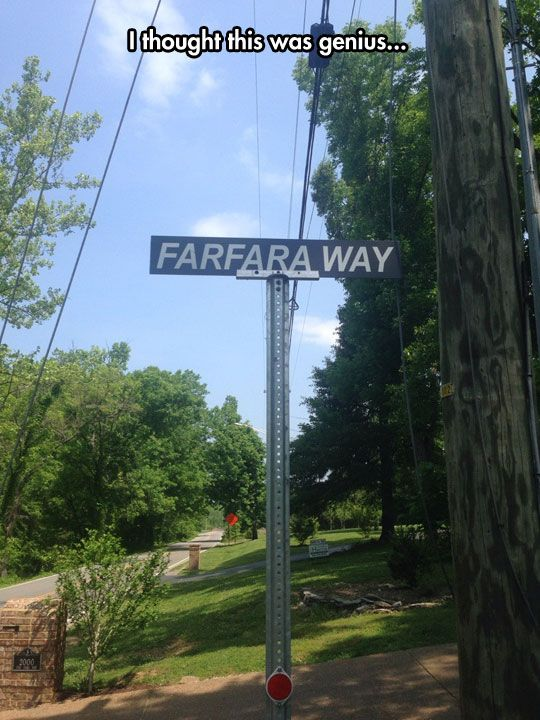 I want that to be the name of my street