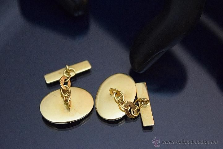 Antig edades elegantes gemelos de dise o en oro amarillo for Disenos de joyas en oro