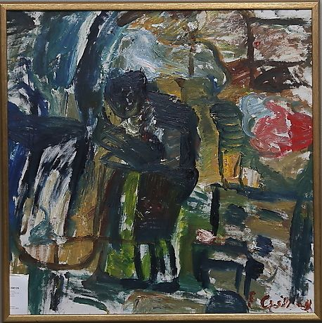 ERLAND CULLBERG. Olja på duk, signerad. Konst - Måleri – Auctionet
