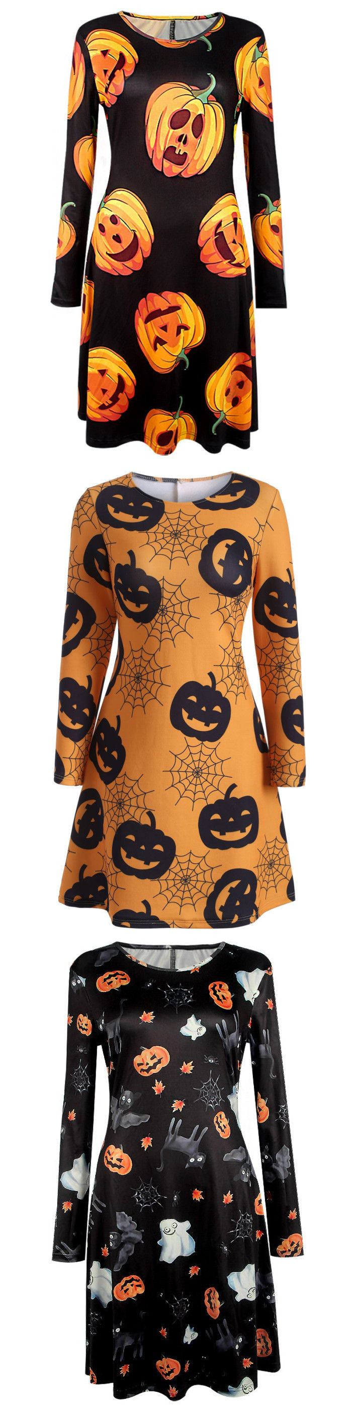 Happy Halloween | Start at $7 | Halloween Swing Dress| Sammydress.com