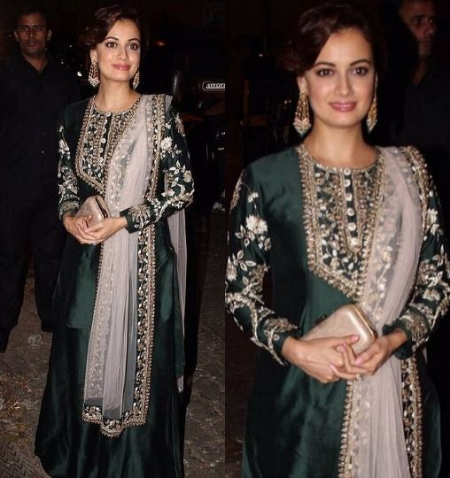 Dia Mirza in aza designer in Payal Singhal