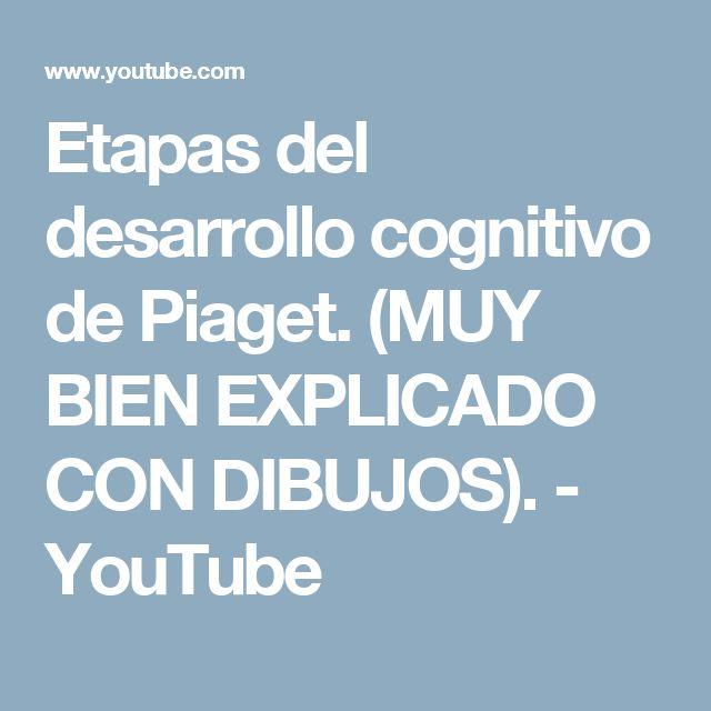 Etapas del desarrollo cognitivo de Piaget. (MUY BIEN EXPLICADO CON DIBUJOS). - YouTube