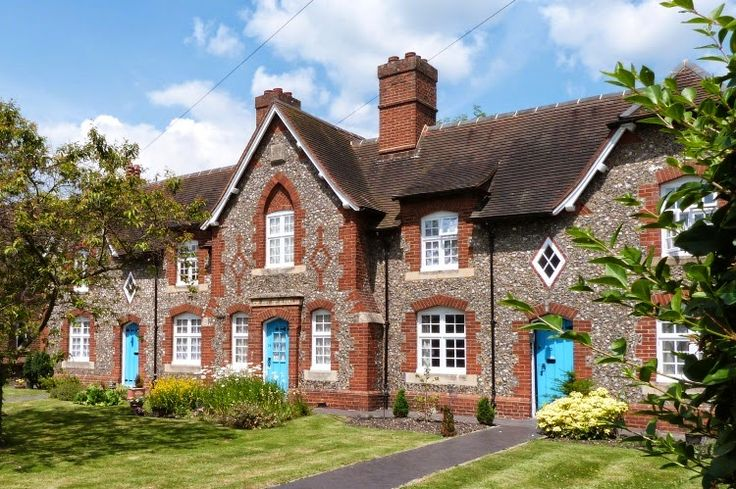 .Almshouses in Ickenham, UK. They were built in 1857