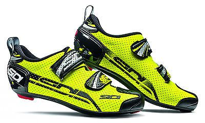 Sidi t-4 air #carbon comp #triathlon bike shoes #fluro yellow/black,  View more on the LINK: http://www.zeppy.io/product/gb/2/321969173628/