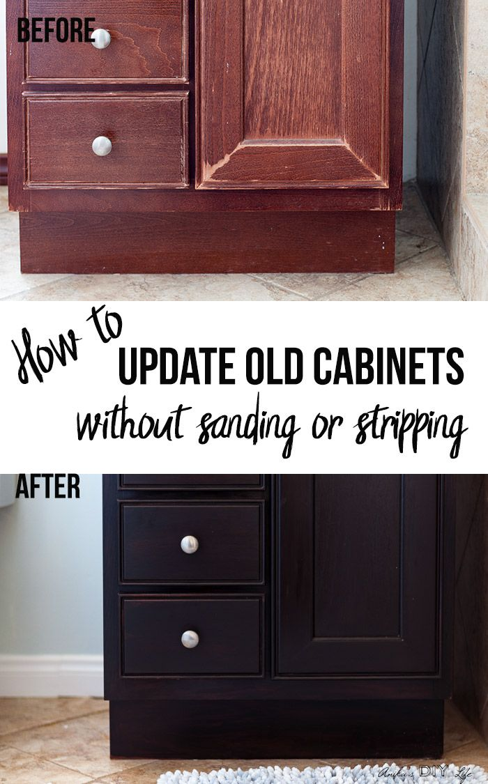 How To Use Gel Stain Update Cabinets Without Sanding Update Cabinets Staining Furniture Staining Cabinets