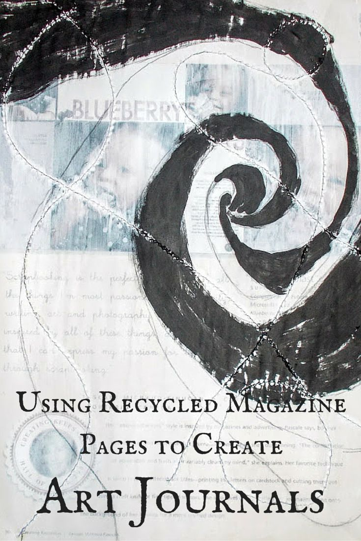 Using Recycled Magazine Pages to Create Art Journals